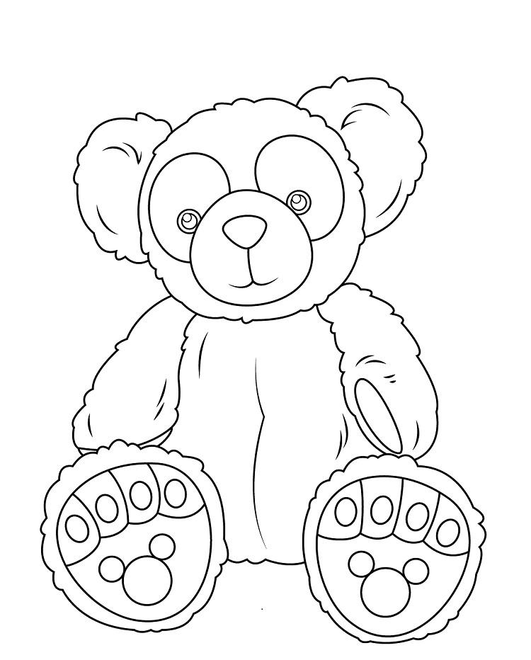 Duffy Bear Coloring Pages