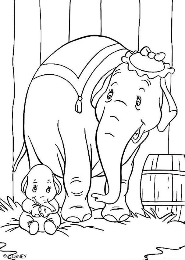Dumbo Coloring Pages And Mom