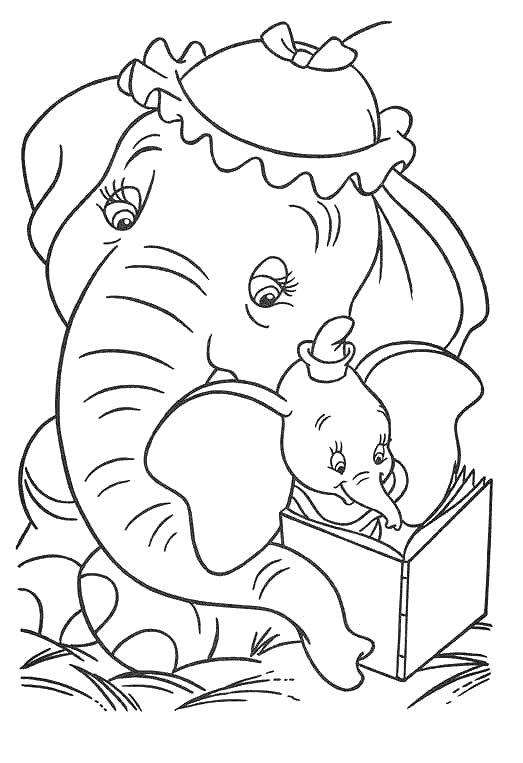 Dumbo Coloring Pages And Mrs Jumbo