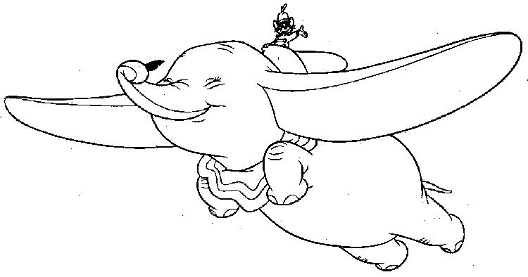 Dumbo Flying Coloring Pages