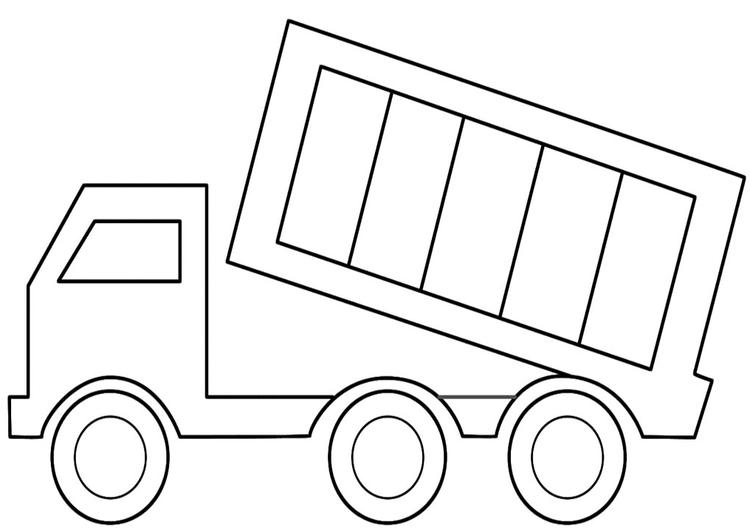 Dump Truck Coloring Pages For Toddler