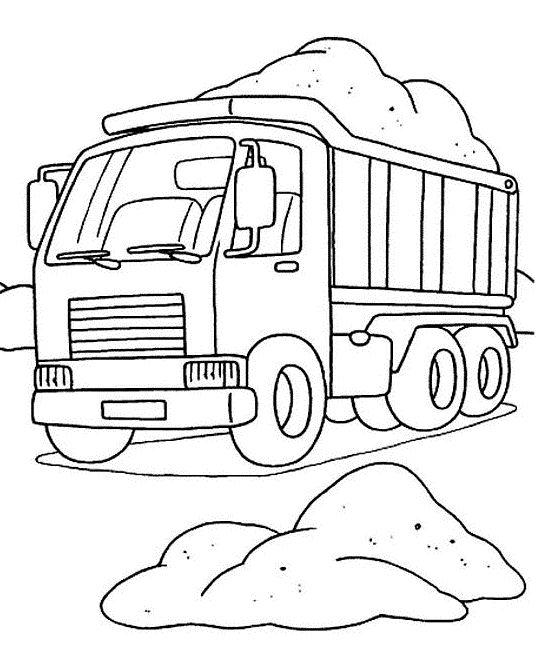 Dump Truck Coloring Pages Load Of Dirt
