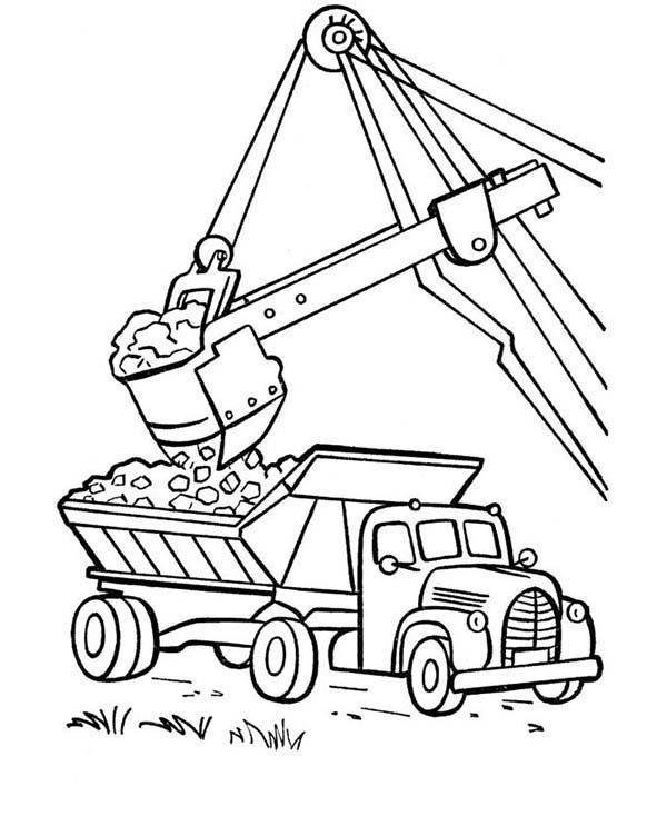 Dump Truck Coloring Pages Loading