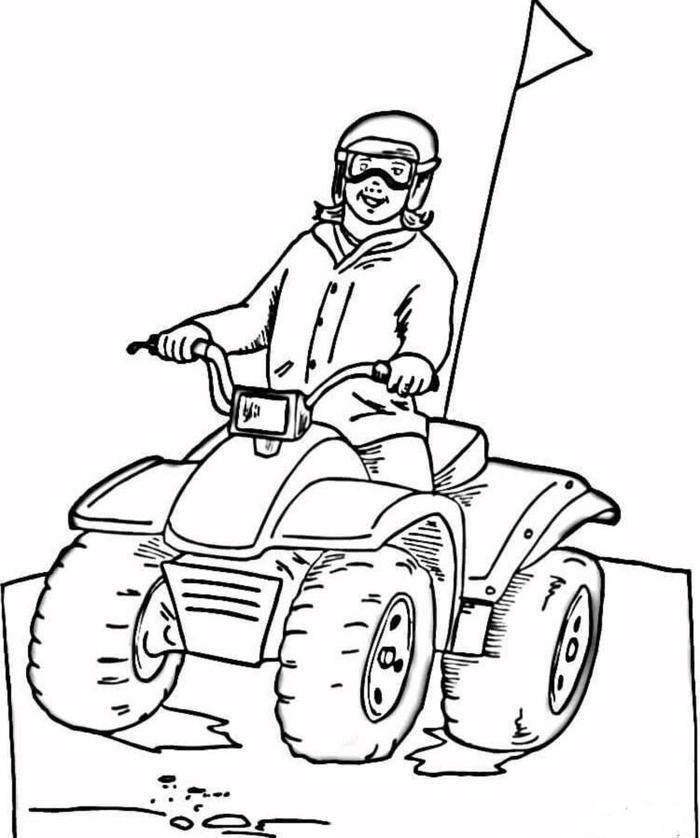 Dune Buggy Bike Coloring Pages