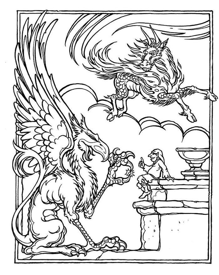 Dungeons And Dragons Coloring Pages