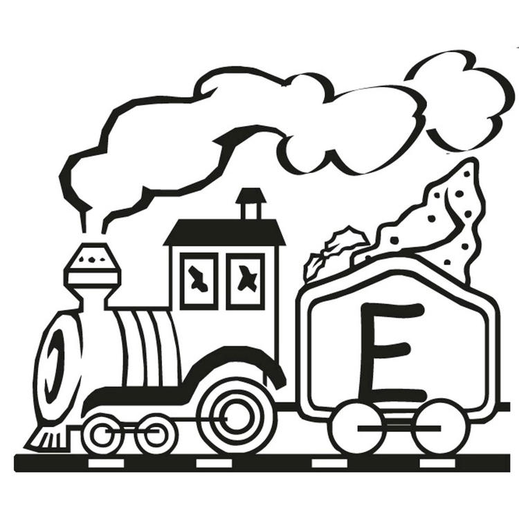 E Alphabet Coloring Pages Free