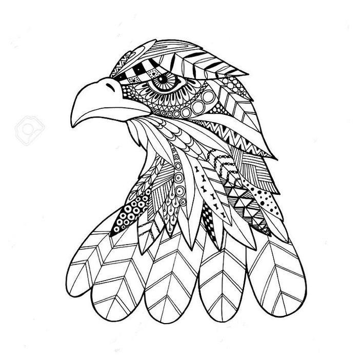 Eagles Tribal Coloring Pages