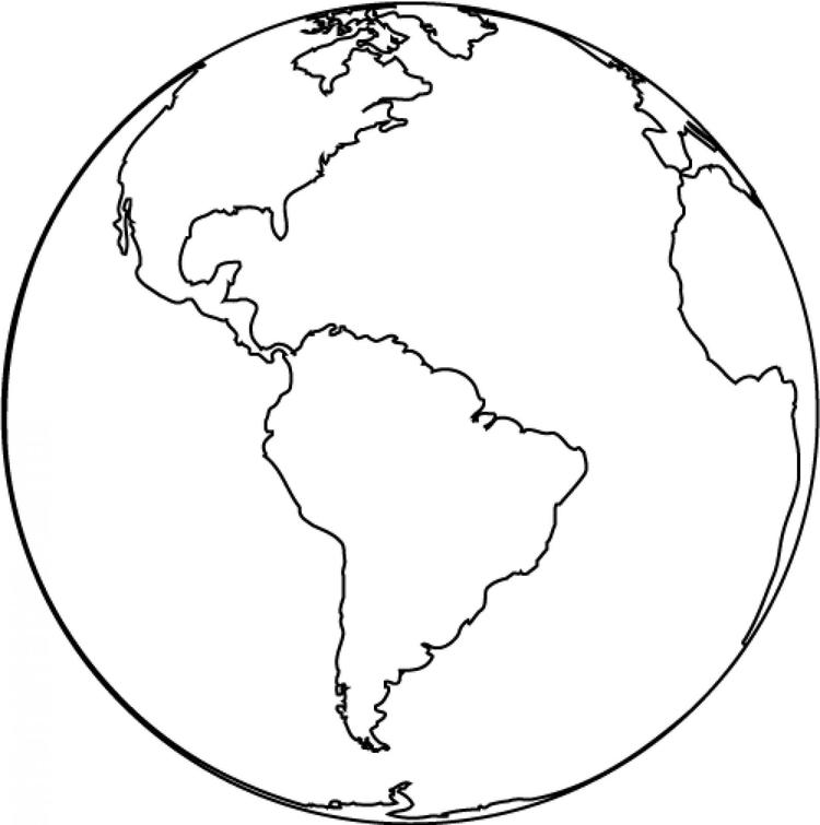 Earth Coloring Pages American Continent