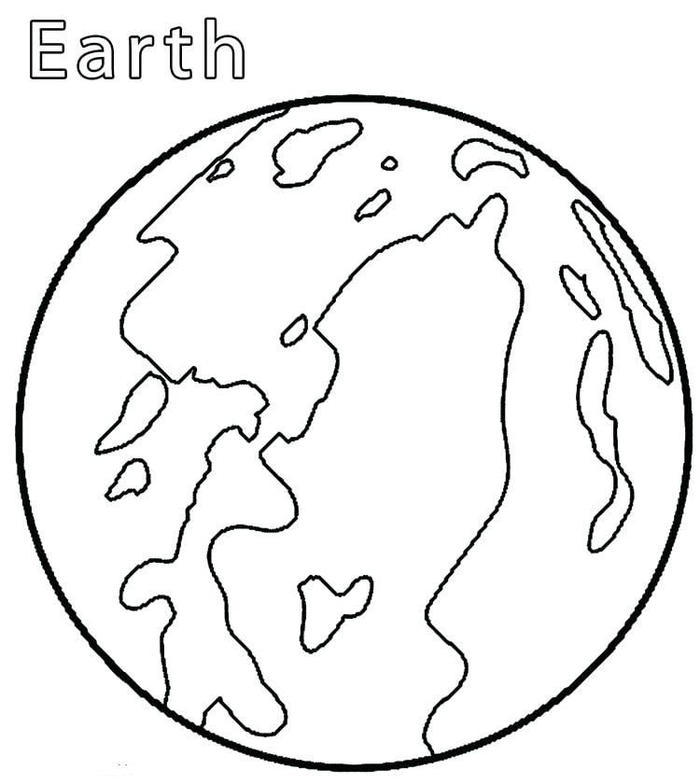 Earth Coloring Pages For Kindergarten