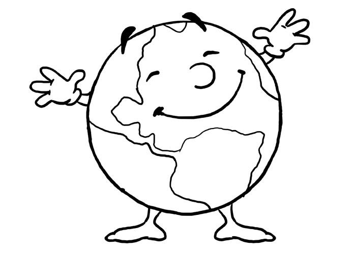 Earth Coloring Pages For Toddler