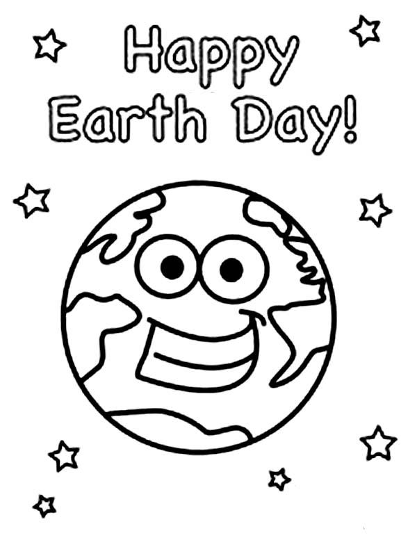 Earth Coloring Pages Happy Earth Day