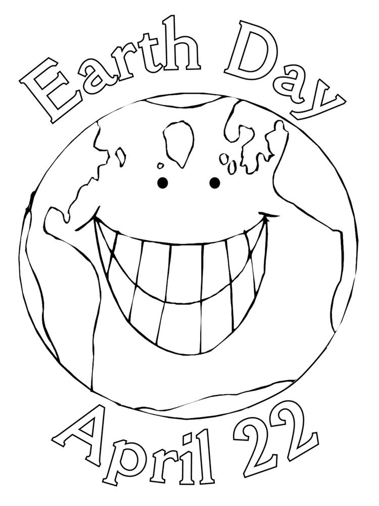 Earth Day Coloring Pages April 22