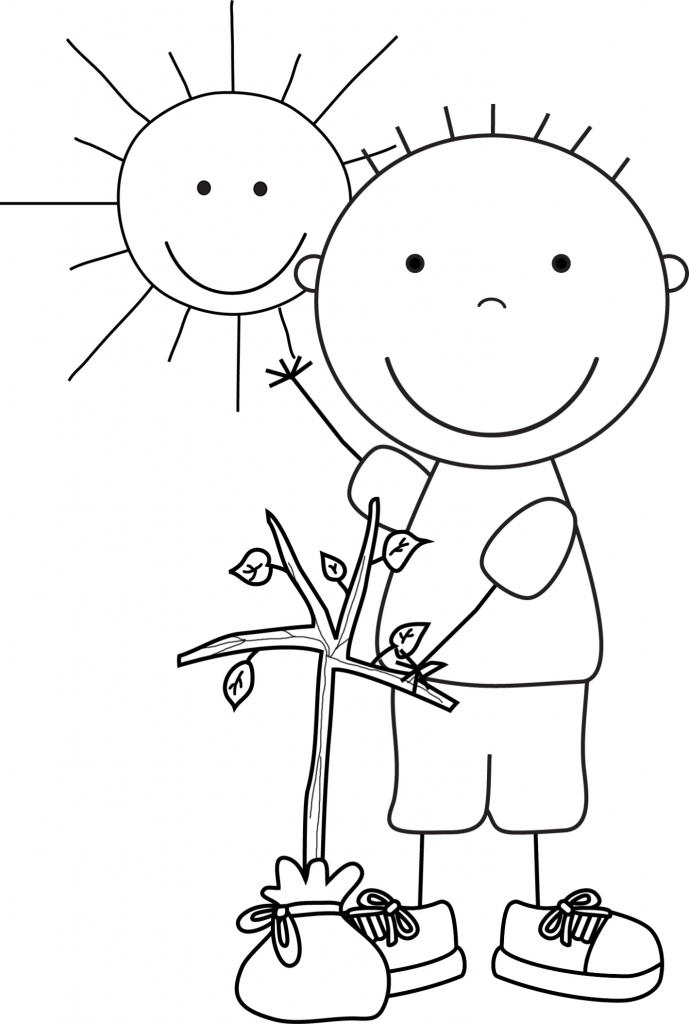 Earth Day Coloring Pages For Boys