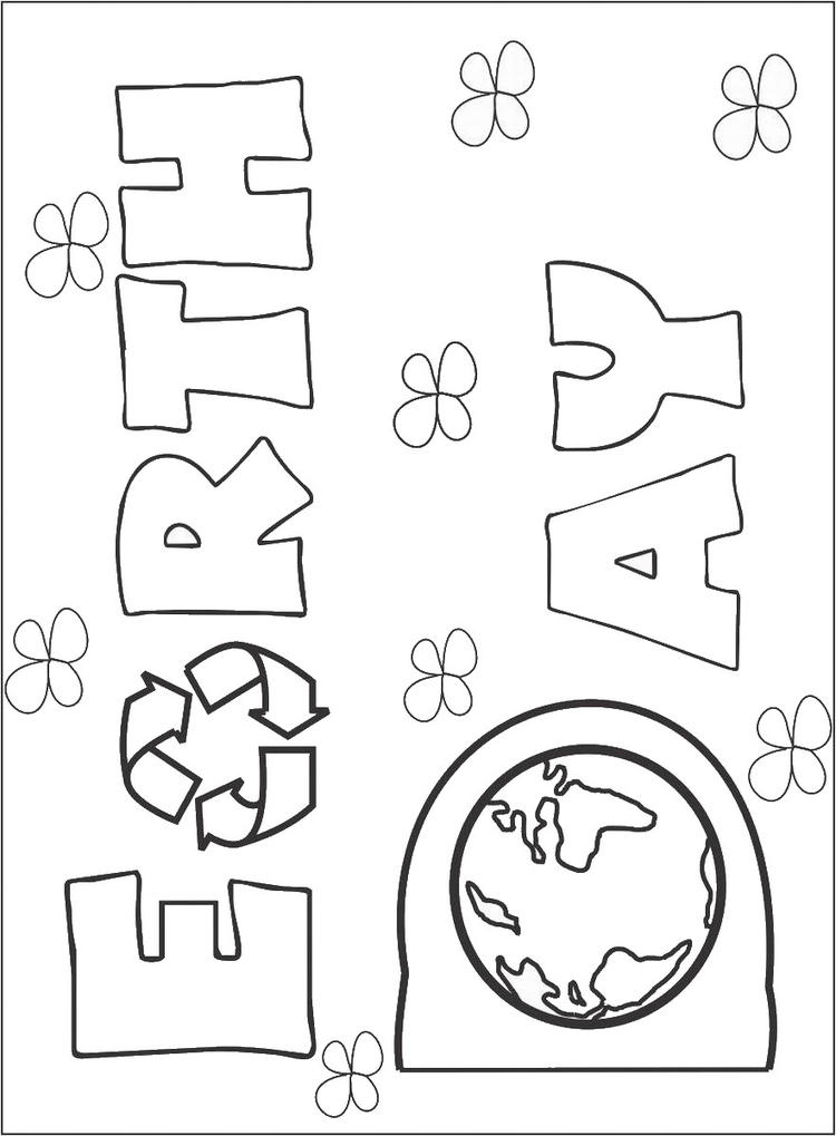 Earth Day Coloring Pages For Kids Printable