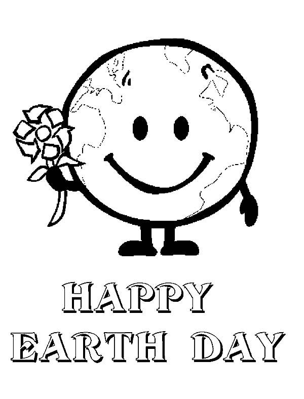 Earth Day Coloring Pages For Kindergarten