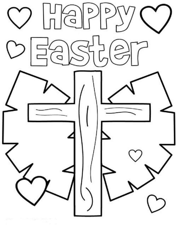 Easter Bunny Coloring Pages For Church