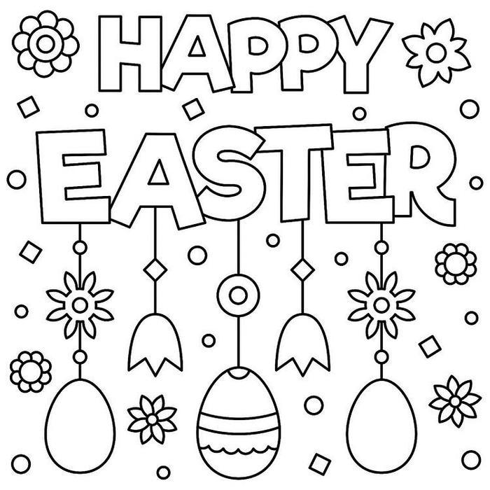 Easter Bunny Coloring Pages For Spring