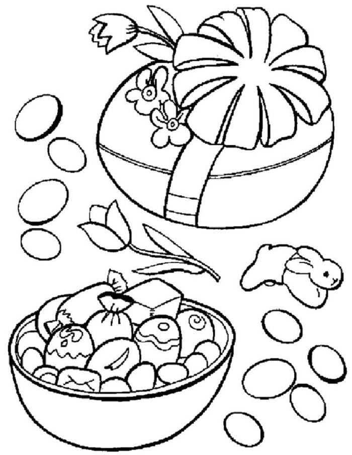 Easter Candy Coloring Pages