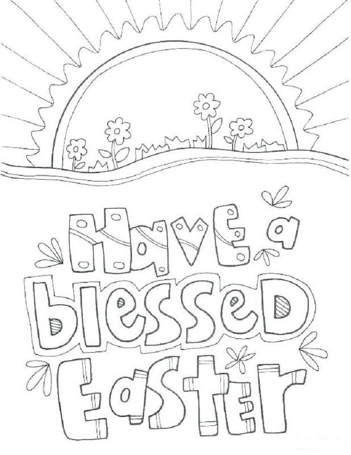 Easter Coloring Pages Bible Story