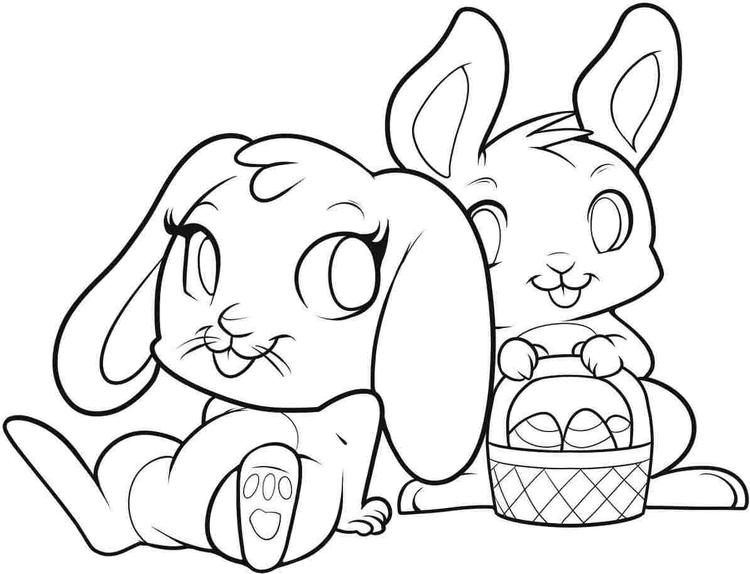 Easter Coloring Pages Bunny Easter