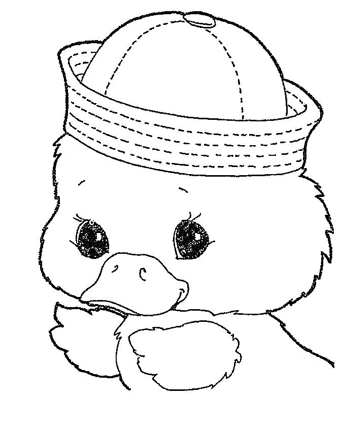 Easter Coloring Pages Cute Baby Ducks