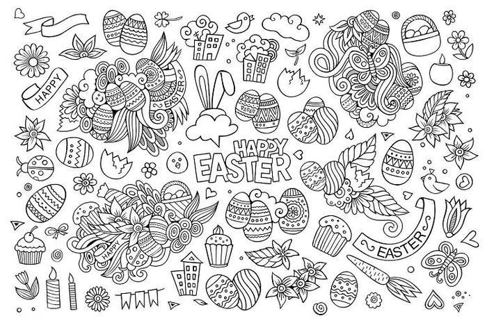 Easter Coloring Pages Doodle
