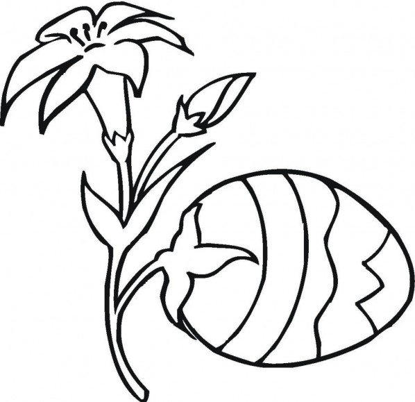 Easter Coloring Pages Eggs Plant