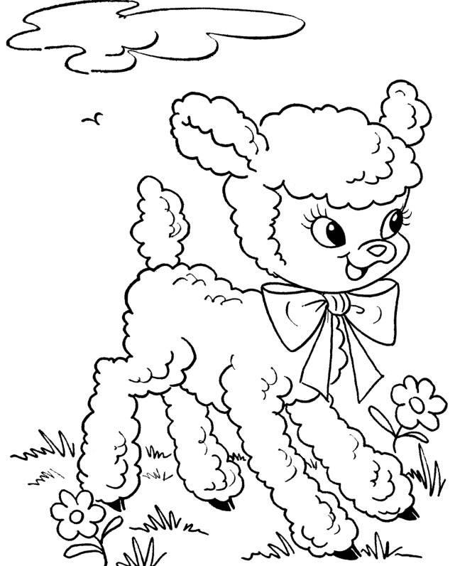 Easter Coloring Pages Lamb To Print