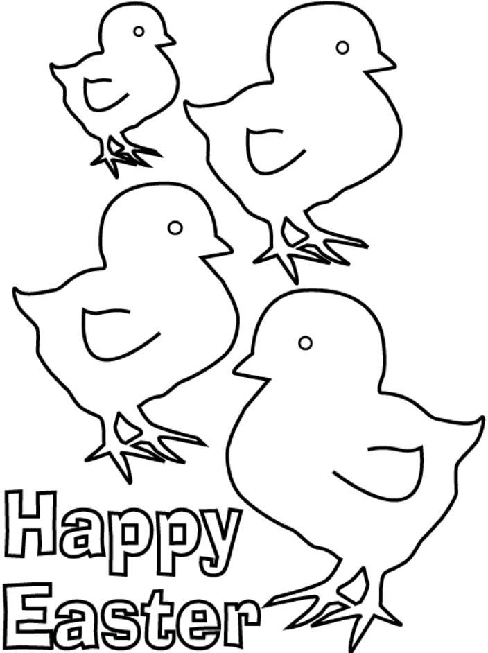 Easter Coloring Pages Of Chicks