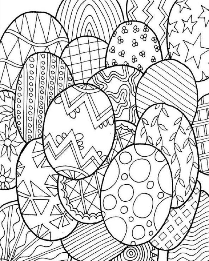 Easter Eggs Coloring Pages For Adults