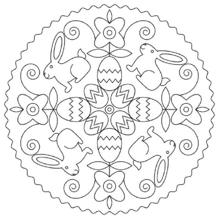 Easter Mandala Coloring Pages