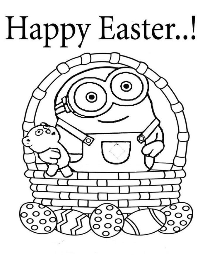 Easter Minion Coloring Pages