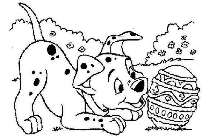 Easter Puppy Coloring Pages
