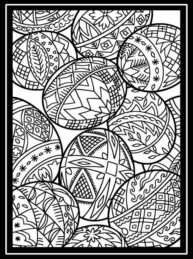 Easter Stained Coloring Pictures