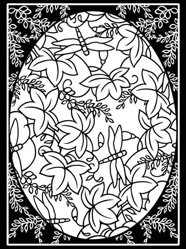 Easter Stained Glass Coloring Sheet