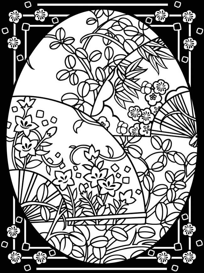 Easter Stained Glass Print Out Drawing