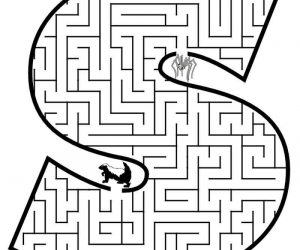 Easy Maze the Letter S