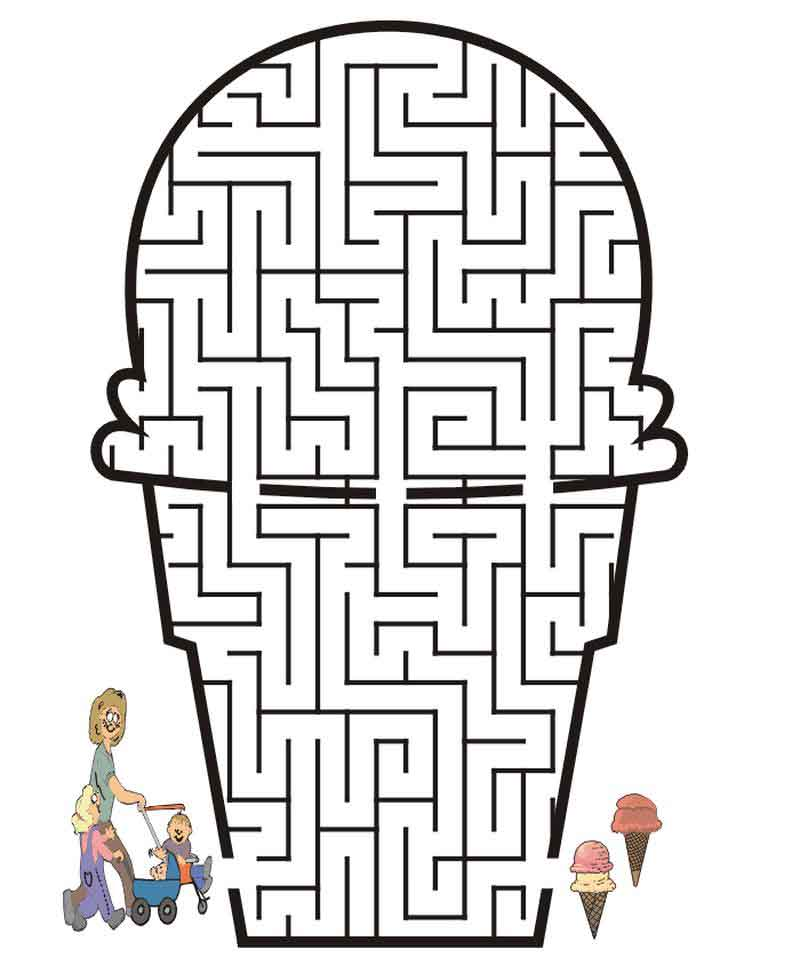 Easy Mazes Ice Cream Cone