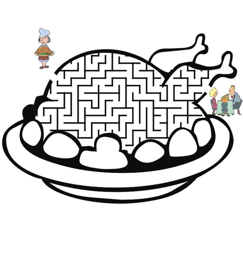 Easy Thanksgiving Maze For Kids