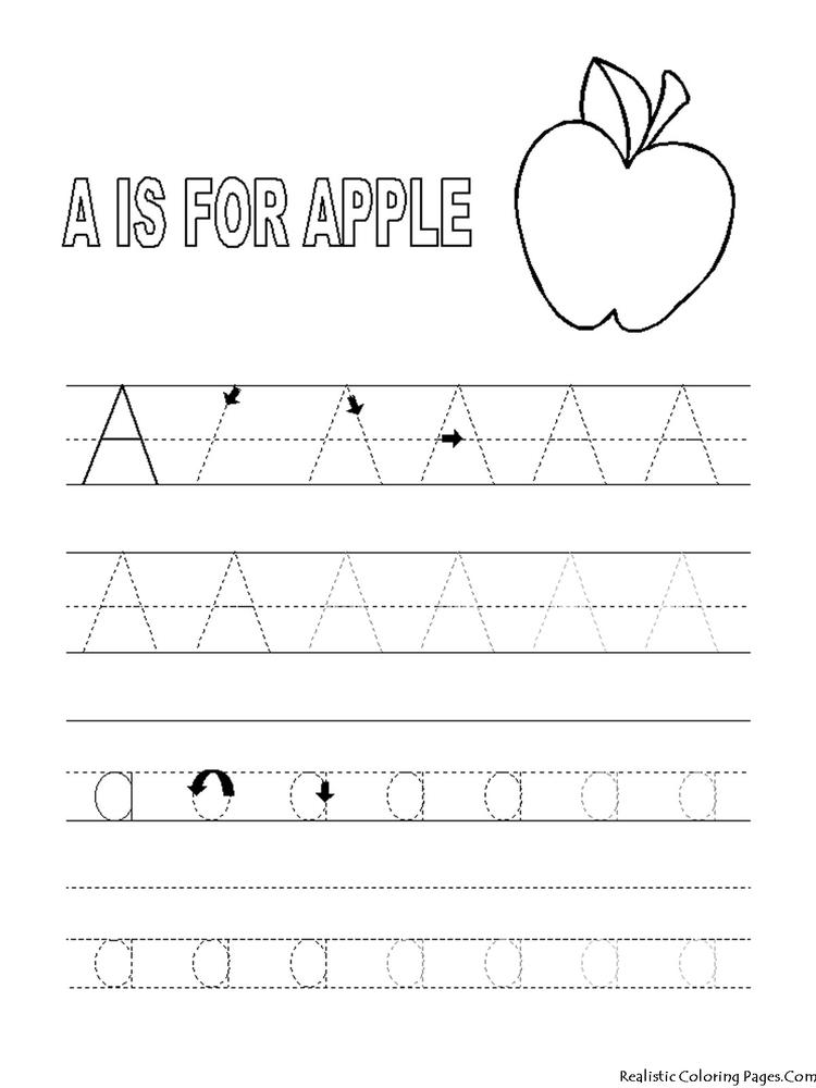 Easy Abc Tracing Coloring Pages