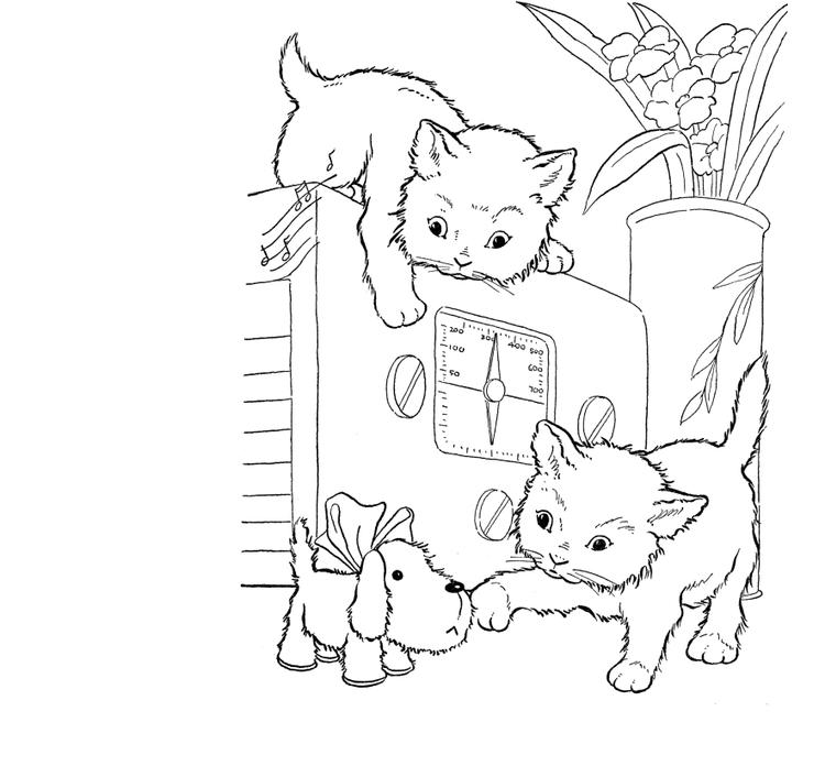 Easy Baby Kitty Coloring Pages