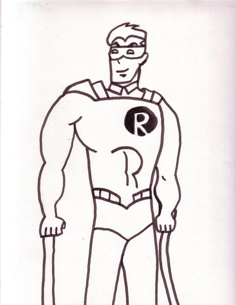 Easy Batman And Robin Coloring Pages 1