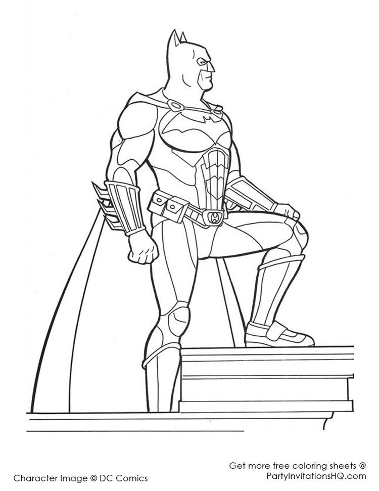 Easy Batman And Robin Coloring Pages 2
