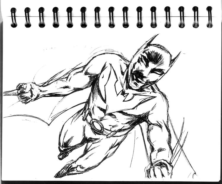 Easy Batman Beyond Coloring Pages 1