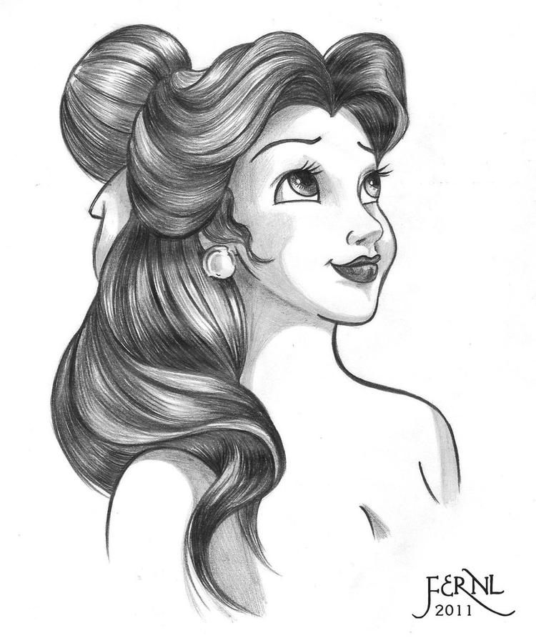 Easy Belle Face Coloring Pages 1