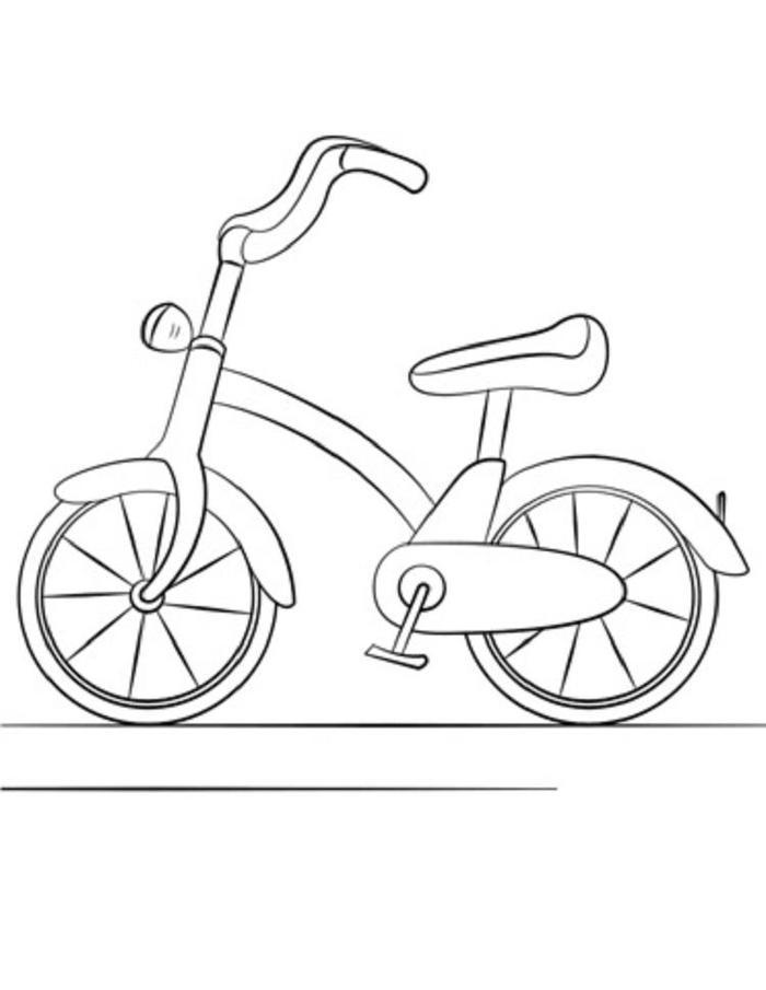 Easy Bike Coloring Pages