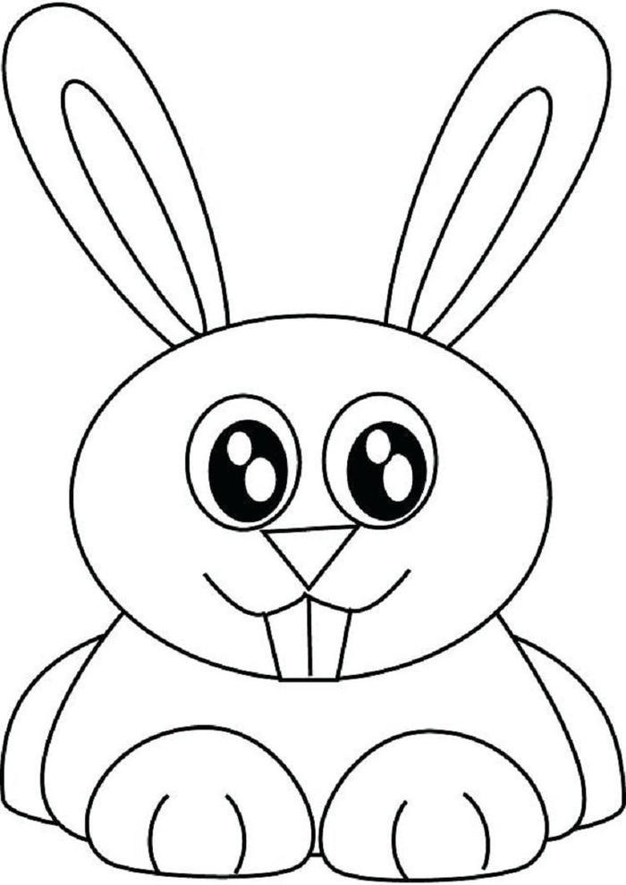 Easy Bunny Coloring Pages