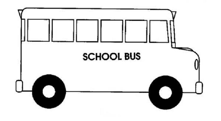 Easy Bus Coloring Pages