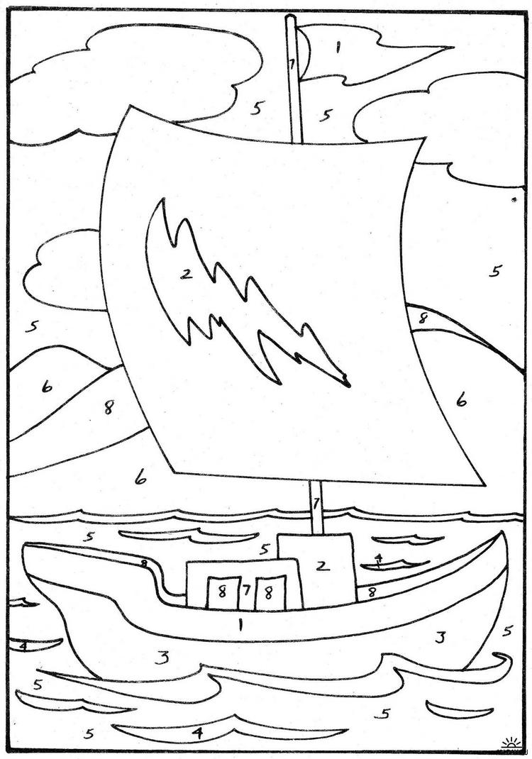 Easy Color By Number Coloring Pages