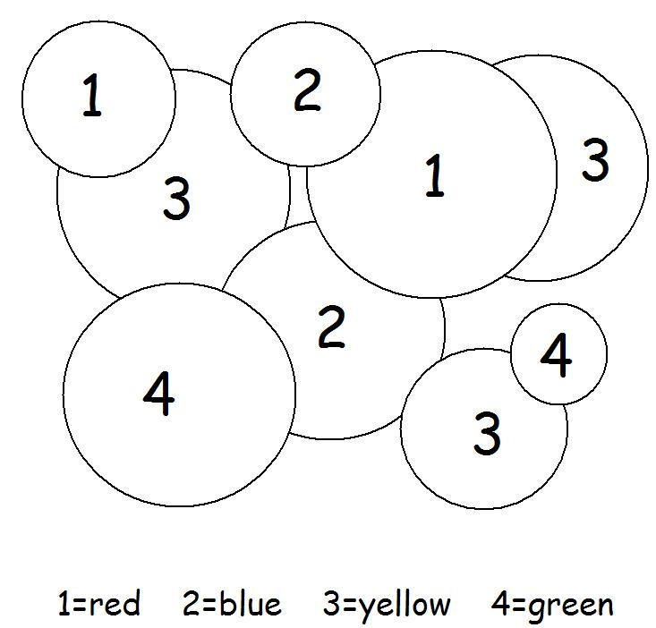 Easy Color By Number Pages For Children